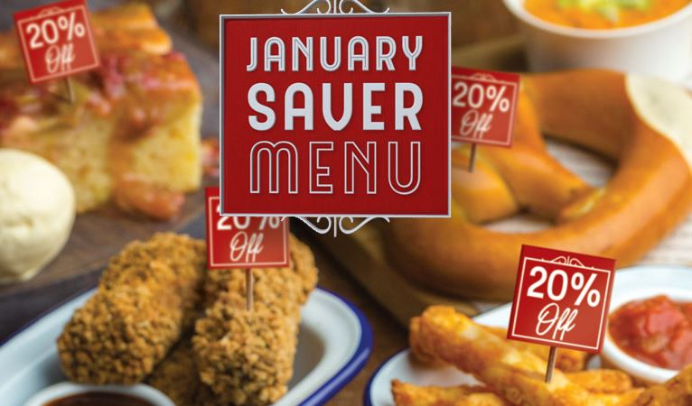 January Saver Menu