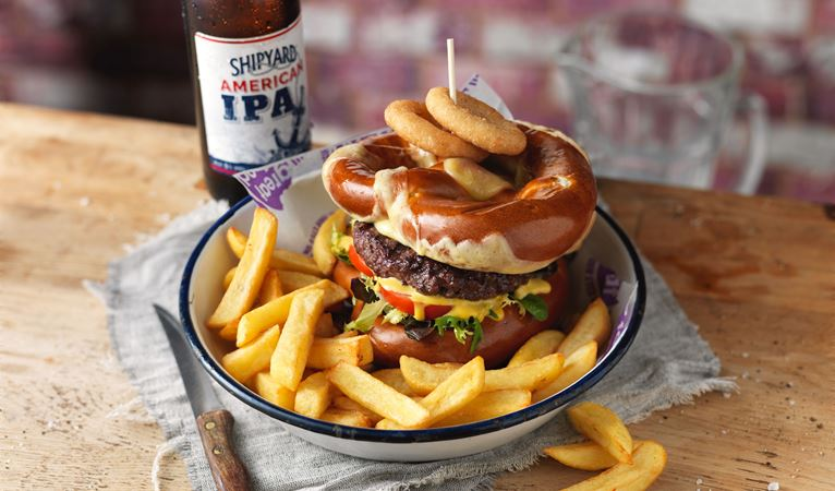 Check out our great range of burgers