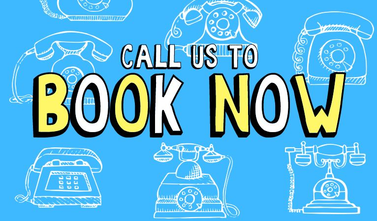 Call us to book now!