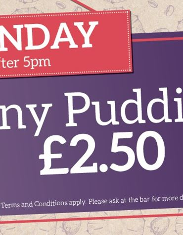 All Puddings £2.50