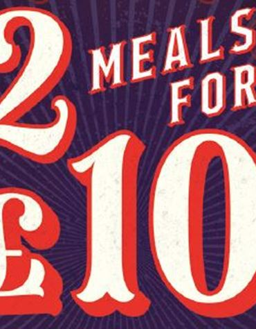 2 Meals for £10