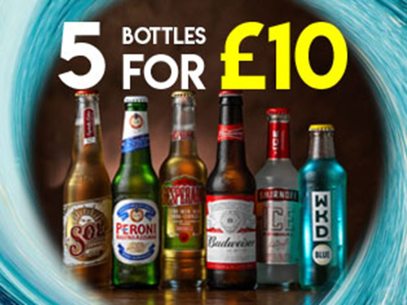 5 bottles for only £10
