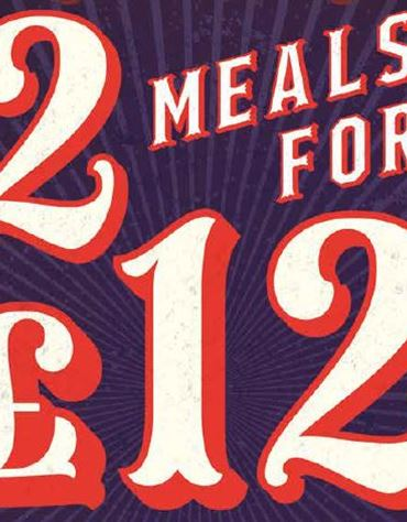 2 Meals for £12