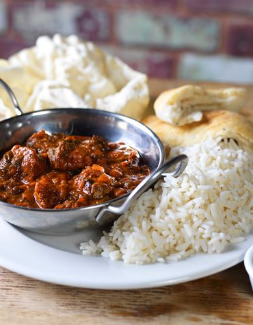 Wednesdays - Curry and a Drink* for £6.35