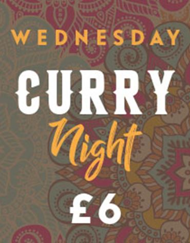 Wednesday Curry night for £6