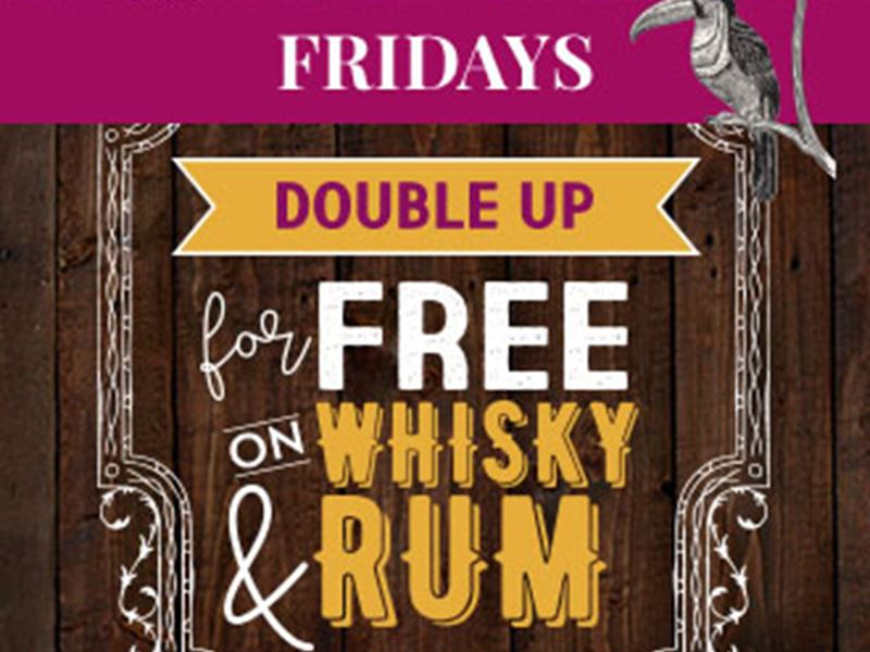 Whiskey & Rum Fridays