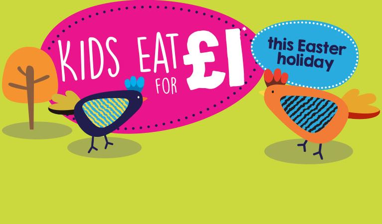 Kids Eat for £1 this Easter Holiday!