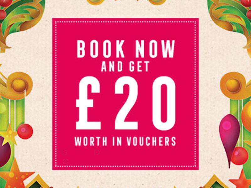 Book Now for £20 Worth of Vouchers
