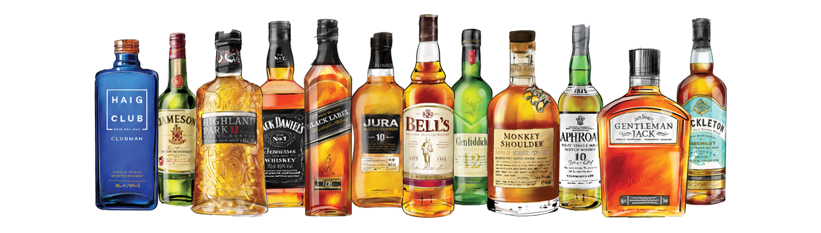 a Selection of Whiskey bottles