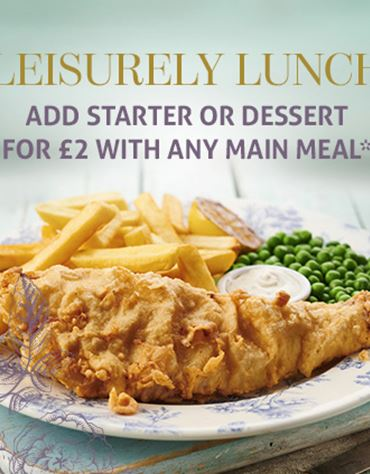 Add a starter or dessert for £2