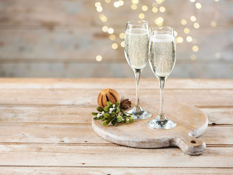 Festive Glass of Prosecco
