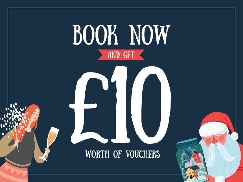 £10 worth of vouchers!